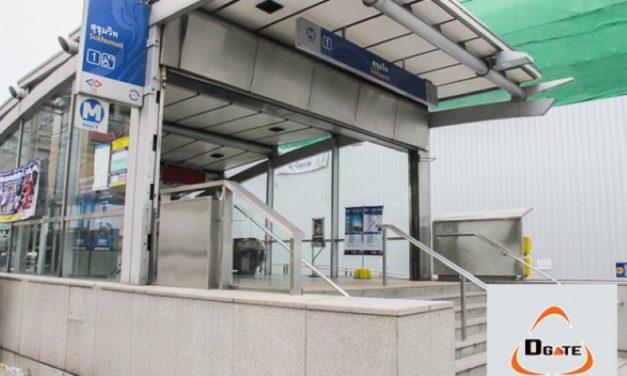 ติดตั้ง เครื่องนับคน (DCounter) @ รถไฟฟ้าใต้ดิน MRT สถานีสุขุมวิท